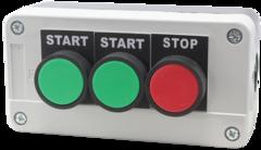 Пост управления трехкнопочный ПТК-А-3102