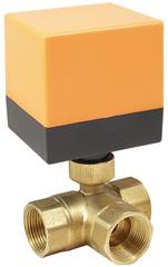 Кран шаровой трехходовой неполнопроходной с электроприводом AR500-3