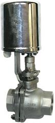 Кран шаровой регулирующий с электроприводом, для пара AR-GH100-4