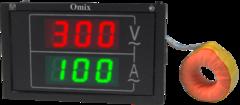 Вольтамперметр однофазный щитовой Omix PQ74-AV2-1-N3