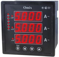 Амперметр трехфазный щитовой с 3 релейными выходами Omix P99-AX-3-0.5-3K