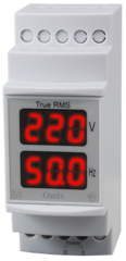 Индикатор напряжения и частоты однофазный на DIN-рейку Omix D2-VF2-1