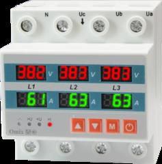 Вольтамперметр трехфазный на DIN-рейку Omix D4-AV6-3-K6