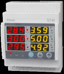 Мультиметр трехфазный на DIN-рейку Omix D4-M6-3