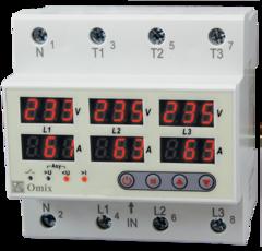 Реле контроля трехфазного тока и напряжения Omix D5-AV6-3-PS-K6