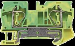 Клемма заземления пружинная самозажимная проходная JUT3-6PE