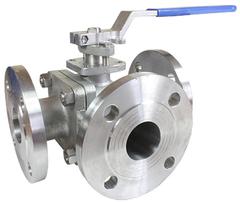 Кран шаровой трехходовой КПР-Т3Ф с ручным приводом