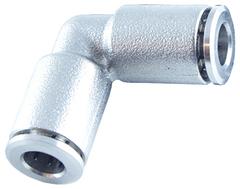 Угловой круглый фитинг металлический ТТУМ