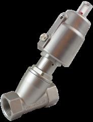 Пневматический клапан одностороннего действия с угловым поршнем УПК12-1