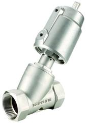 Пневматический клапан одностороннего действия с угловым поршнем УПК22-1