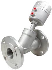 Пневматический клапан одностороннего действия с угловым поршнем УПК22Ф-1