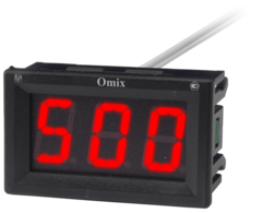 Вольтметр однофазный щитовой с 0(4)...20 мА и RS-485 Omix V1-1-I420-RS485-N2