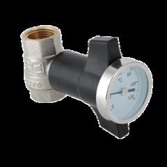 Кран шаровой с термометром VT.808.N